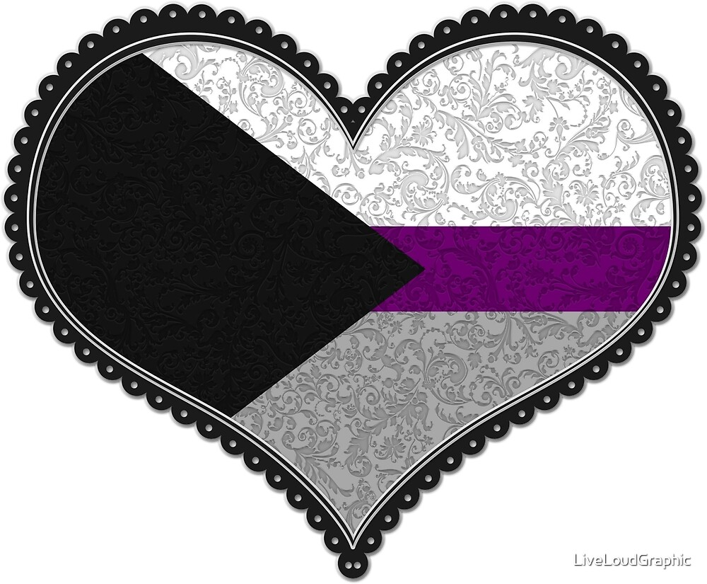 Demisexual Decorative Heart by LiveLoudGraphic