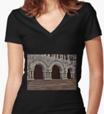 Harvard-Entrance to law school , c1900 Women's Fitted V-Neck T-Shirt