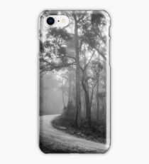 Misty Trees in Black and White iPhone Case/Skin