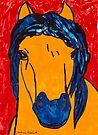 Horse In Red  by Juhan Rodrik