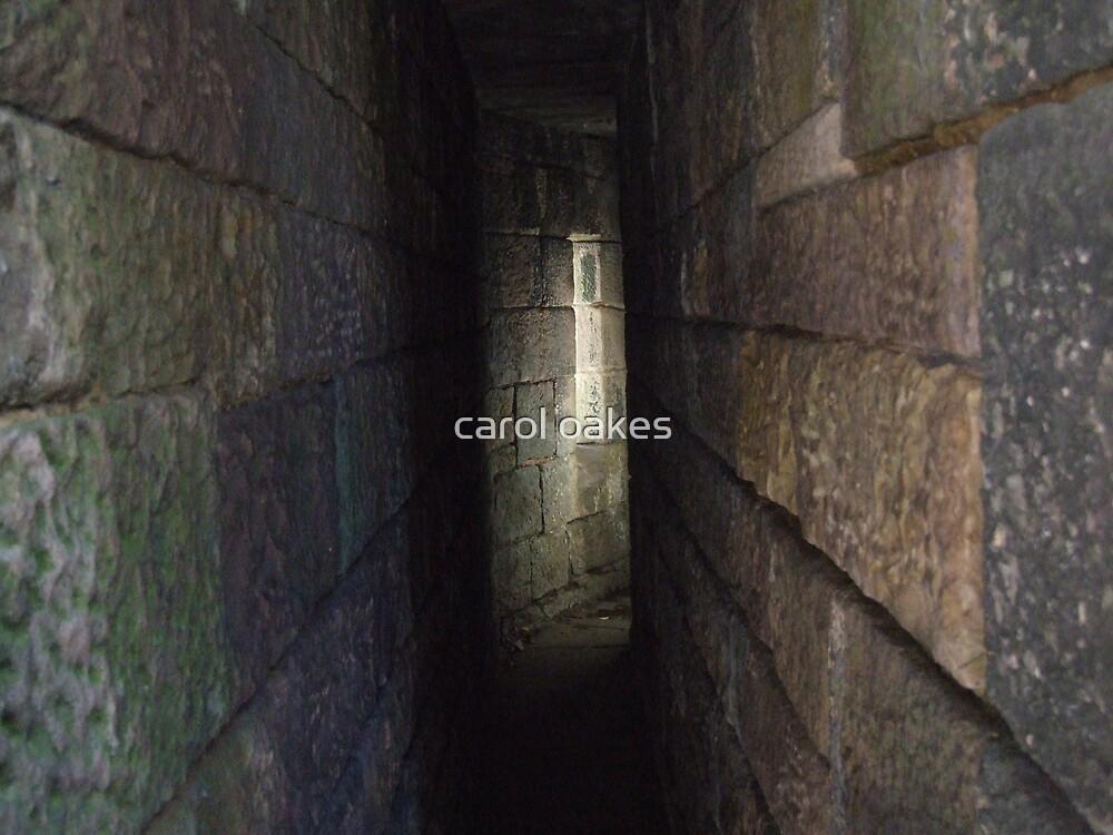 old rivington castle long tight corridor by carol oakes