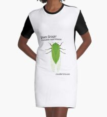 Green Grocer cicada (Cyclochila australasiae) Graphic T-Shirt Dress