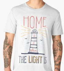 Home Is Where The Light Is Men's Premium T-Shirt