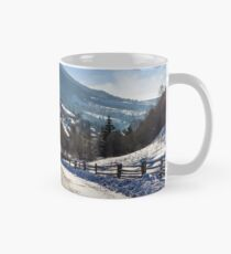 rural mountain road in snow Mug