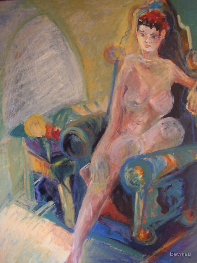 seated nude by Bevmay