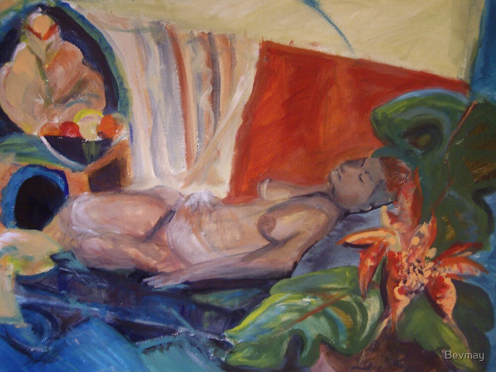 reclining nude by Bevmay
