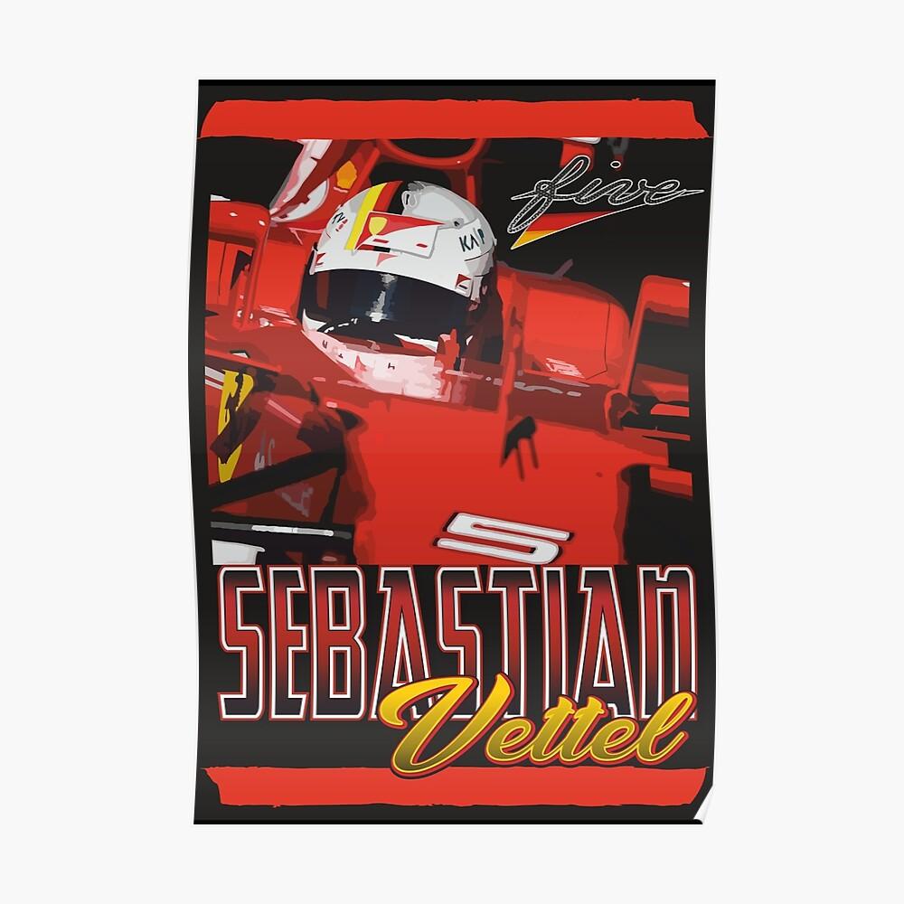 Sebastian Vettel   F1 Poster