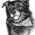 Laughing Dog von Nicole Zeug