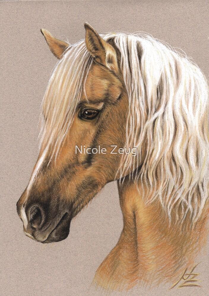 Berber Horse Portrait by Nicole Zeug