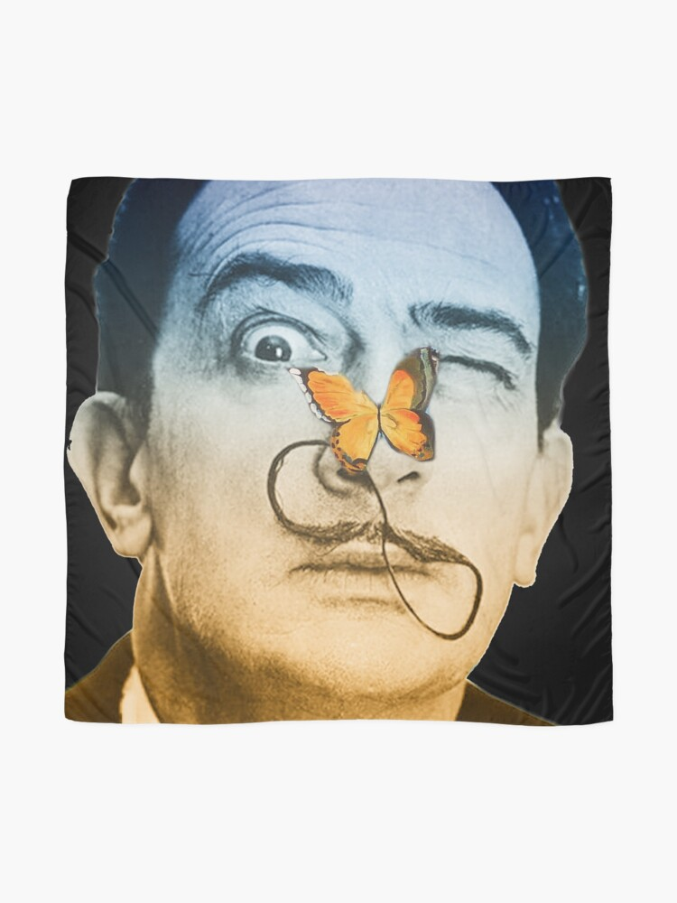 Alternate view of Salvador Dali butterfly man Scarf