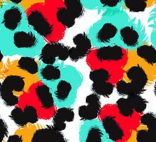 Leopard watercolor spots. Wildlife animal skin design. by Zimniy