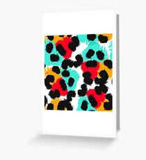 Leopard watercolor spots. Wildlife animal skin design. Greeting Card