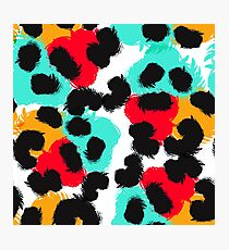 Leopard watercolor spots. Wildlife animal skin design. Photographic Print
