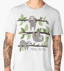 Sloth Nature Design - Hang In There Men's Premium T-Shirt
