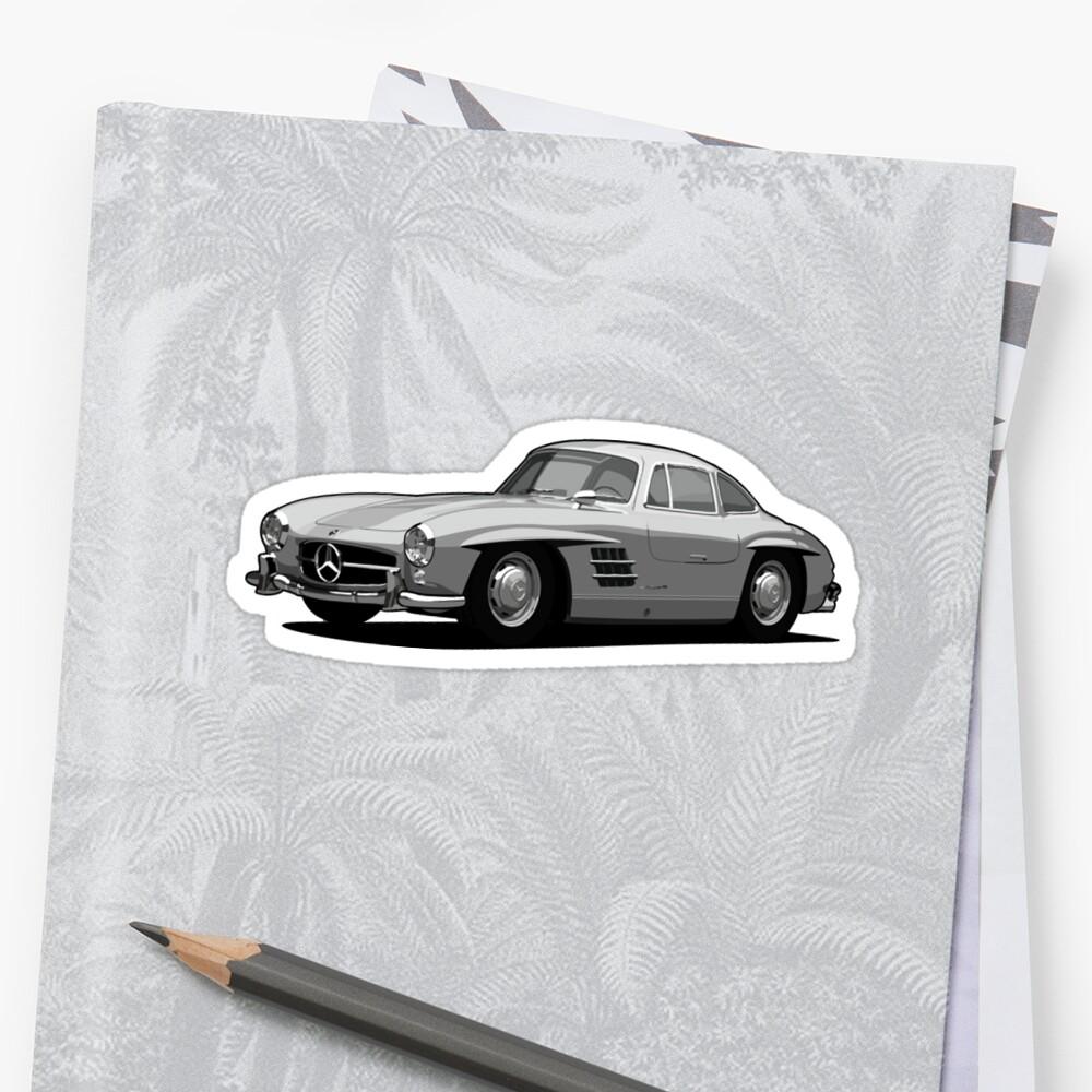 Mercedes 300sl print sticker