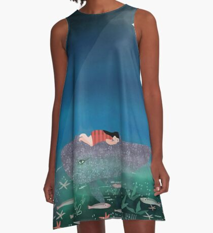 Dream With The Whale A-Line Dress