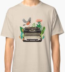 The bird and the typewriter Classic T-Shirt