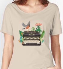The bird and the typewriter Women's Relaxed Fit T-Shirt
