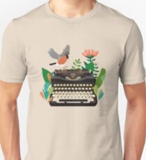 The bird and the typewriter Unisex T-Shirt