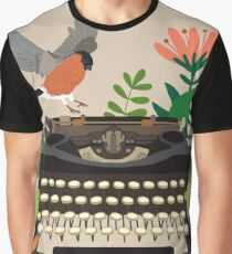 The bird and the typewriter Graphic T-Shirt