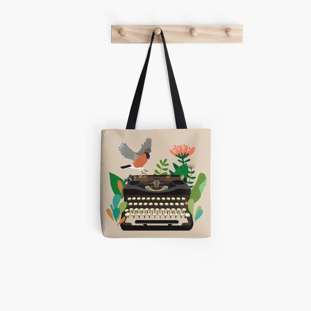 The bird and the typewriter Tote Bag