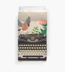Funda nórdica El pájaro y la máquina de escribir