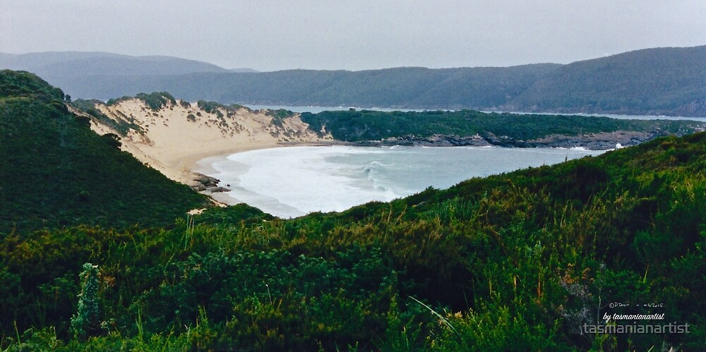 TASMAN PENINSULA ~ Crescent Bay by tasmanianartist by tasmanianartist