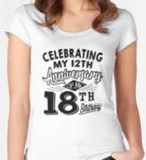 Funny 30th Birthday Celebration Gag Gift 30 Year Old Women's Fitted Scoop T-Shirt