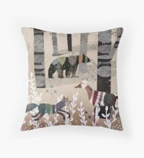 Forest In Sweater Throw Pillow