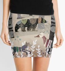 Forest In Sweater Mini Skirt