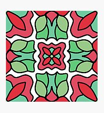 Christmas Floral Wallpaper Photographic Print
