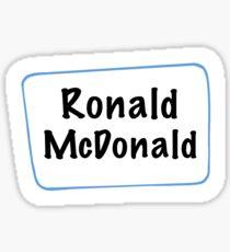Ronald Mac Design Sticker