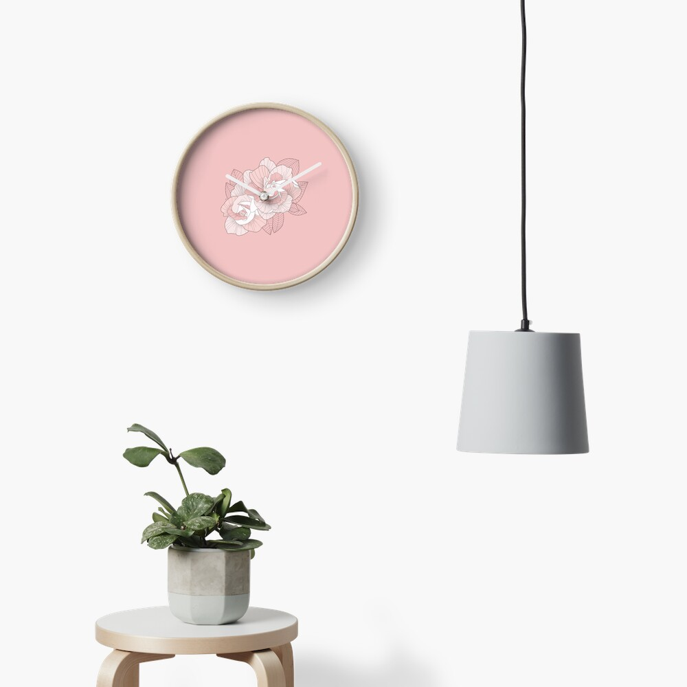 GARDENIA - Pink Clock