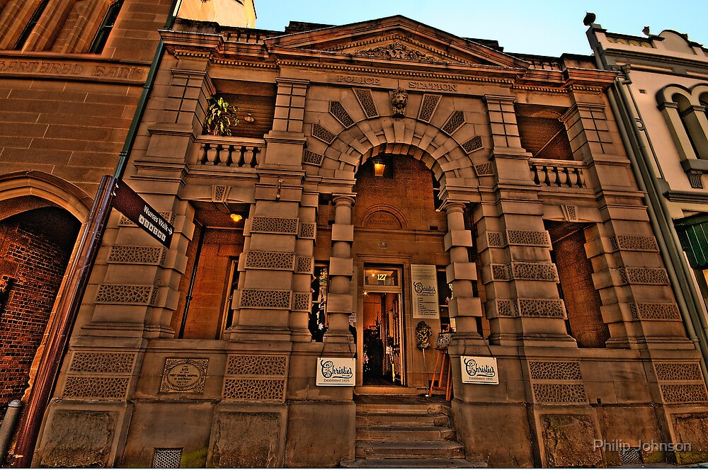 Old Style Justice - The Rocks Police Station - The HDR Series by Philip Johnson