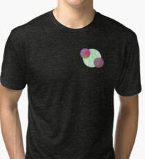 Aesthetic Geometric Circles Design Tri-blend T-Shirt