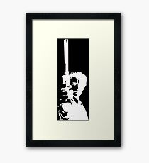 Clint Eastwood as Dirty Harry | Cult Movie Framed Print