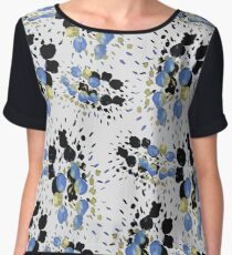 White Spark Inkblot Women's Chiffon Top