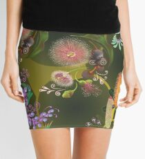 D1G1TAL-M00DZ ~ FOLKART ~ FLORAL ~ Australian Blooms by tasmanianartist Mini Skirt