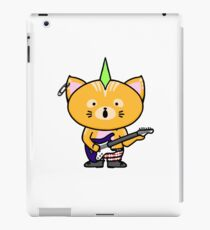 Punk Cat Playing Guitar iPad Case/Skin