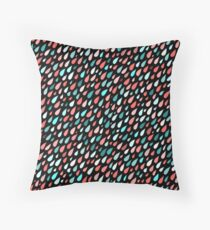 Rainy Day Pattern. Pink and blue Throw Pillow