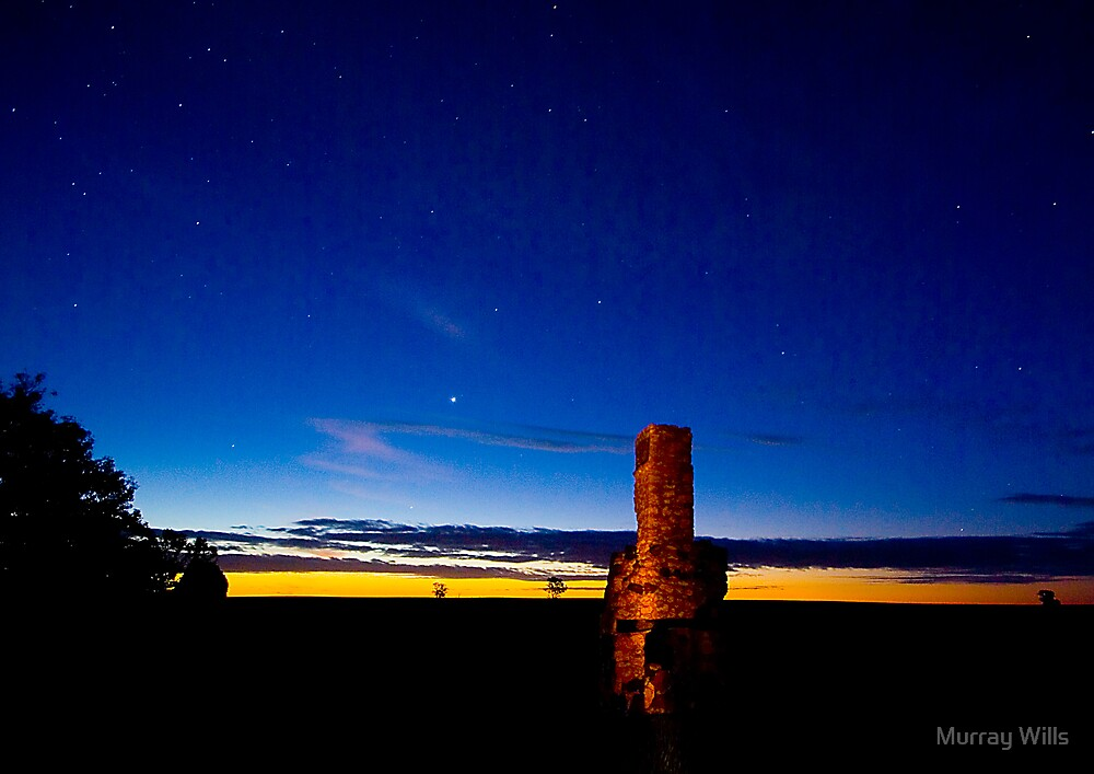 Chimney-silhouette-Sunset by Murray Wills