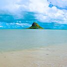 Chinaman's Hat island, east shore , Oahu, Hawaii, USA by Barbara  Brown