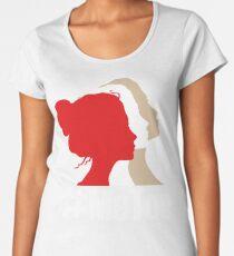 Camiseta premium de cuello ancho ¡Di Metoo! Mujer de pie por Righ. Yo también camiseta