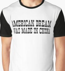 Funny Politics Political America Made In China Western Cowboy Street Message Saying T-Shirts Graphic T-Shirt