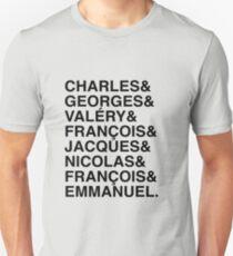 Présidents de la Vème République Unisex T-Shirt