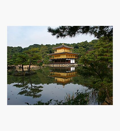 Kinkaku-ji, the golden temple and the Mirror Pond Photographic Print