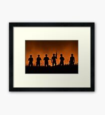 USA Army Soldiers Framed Print
