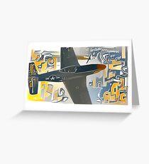 P-51D Mustang Warbird Greeting Card