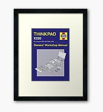 Thinkpad x220 - Owners' Manual Framed Print