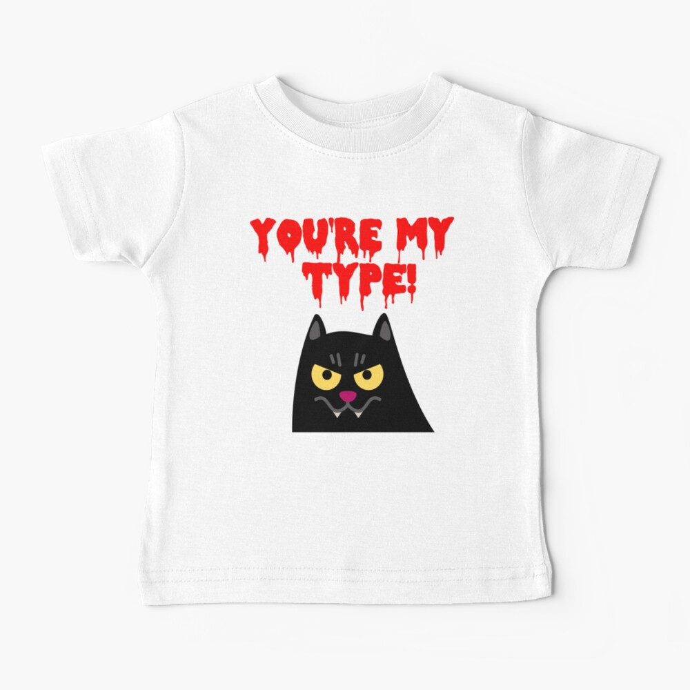Cute Halloween Vampire Cat for Babies and Kids! Baby T-Shirt